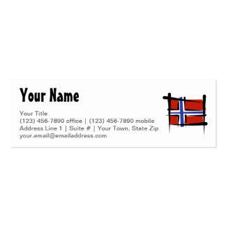 Norway Brush Flag Business Card Templates