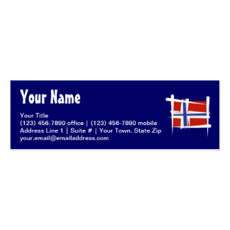 Norway Brush Flag Business Card