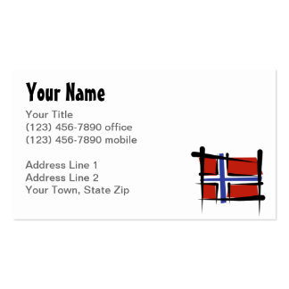 Norway Brush Flag Business Card Template