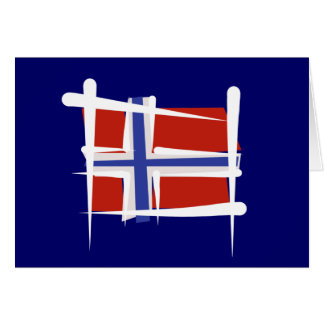 Norway Brush Flag Greeting Card