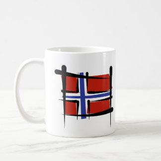 Norway Brush Flag Coffee Mug