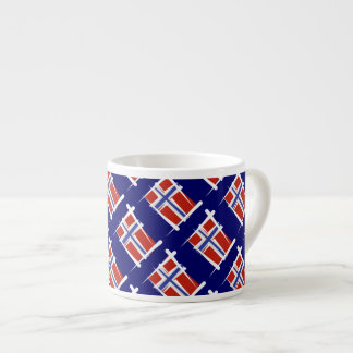 Norway Brush Flag Espresso Cup