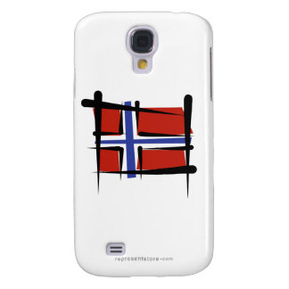 Norway Brush Flag Galaxy S4 Cover