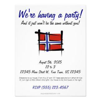 Norway Brush Flag Invitation