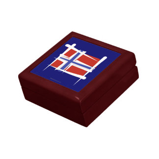 Norway Brush Flag Jewelry Box