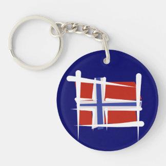 Norway Brush Flag Keychain