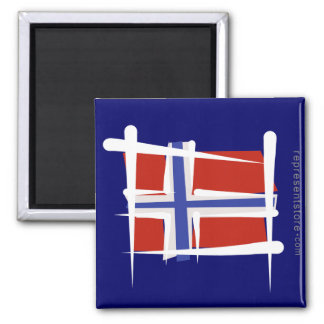 Norway Brush Flag Magnet