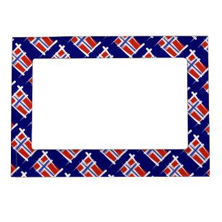 Norway Brush Flag Magnetic Frame