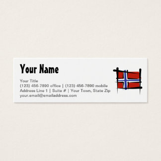Norway Brush Flag Mini Business Card