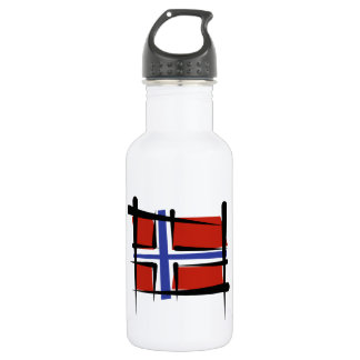 Norway Brush Flag 18oz Water Bottle