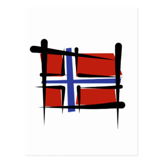 Norway Brush Flag Post Card