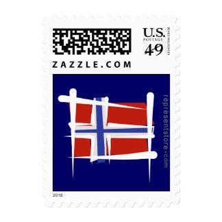 Norway Brush Flag Postage Stamp