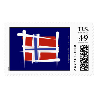 Norway Brush Flag Stamp