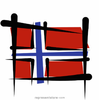 Norway Brush Flag Statuette