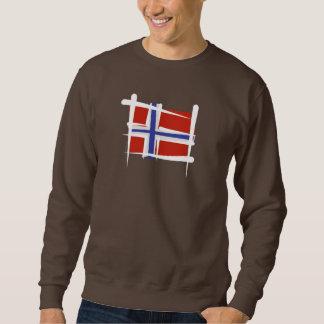 Norway Brush Flag Sweatshirt