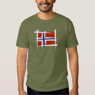 Norway Brush Flag T-Shirt