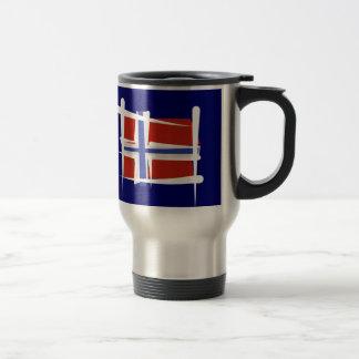 Norway Brush Flag Travel Mug
