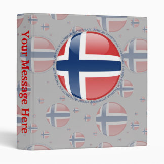 Norway Bubble Flag Binder