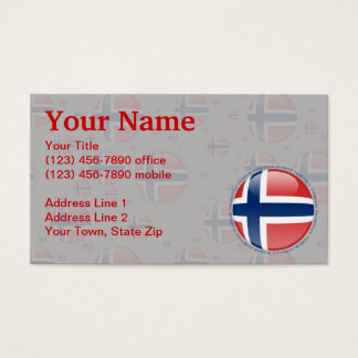 Norway Bubble Flag Business Card
