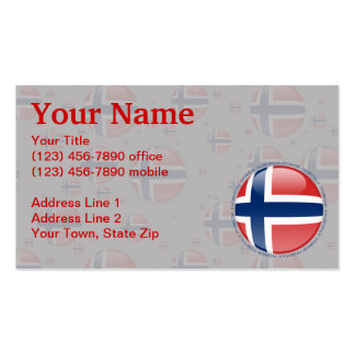 Norway Bubble Flag Business Card Template