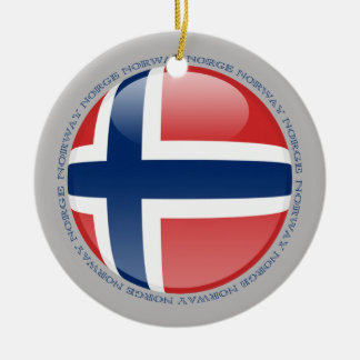Norway Bubble Flag Ceramic Ornament