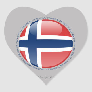 Norway Bubble Flag Heart Sticker