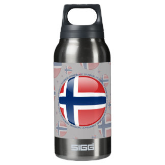 Norway Bubble Flag Insulated Water Bottle
