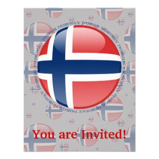 Norway Bubble Flag Custom Invites