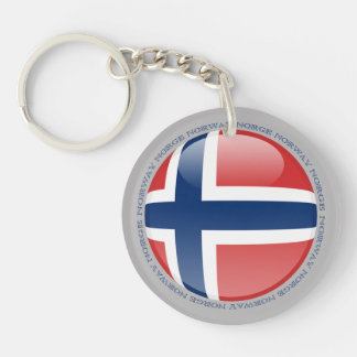 Norway Bubble Flag Keychain