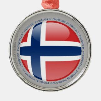 Norway Bubble Flag Metal Ornament