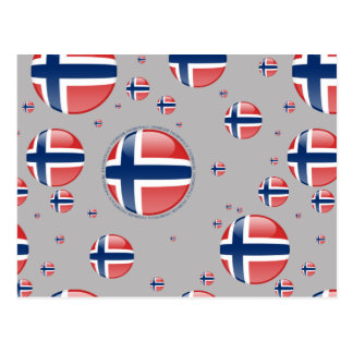 Norway Bubble Flag Postcard