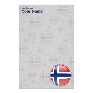 Norway Bubble Flag Stationery