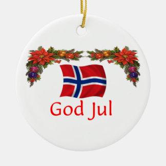 Norway Christmas Ceramic Ornament