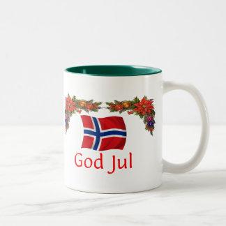 Norway Christmas Two-Tone Coffee Mug