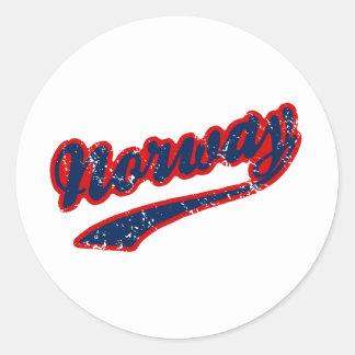 Norway Classic Round Sticker