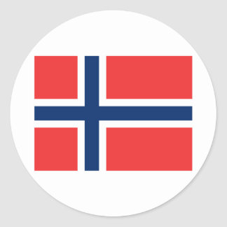 Norway Classic Round Sticker