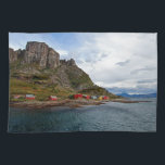"Norway Coast Kitchen Towel<br><div class=""desc"">Houses at the Norway coast during a Hurtigruten Cruise</div>"
