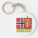 Norway Coat of Arms Basic Round Button Keychain