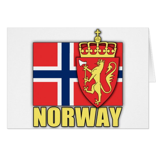 Norway Coat of Arms Card