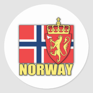 Norway Coat of Arms Classic Round Sticker