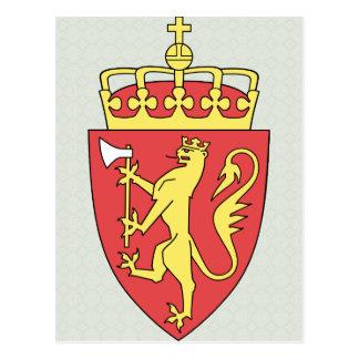 Norway Coat of Arms detail Postcard