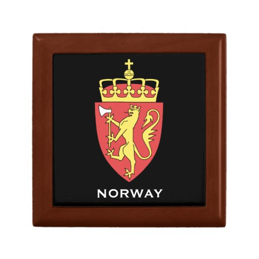 Norway Coat of Arms Gift Box  Norge våpenskjold