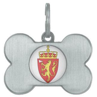 Norway Coat Of Arms Pet Name Tag