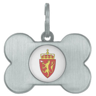 Norway Coat of Arms Pet Name Tag