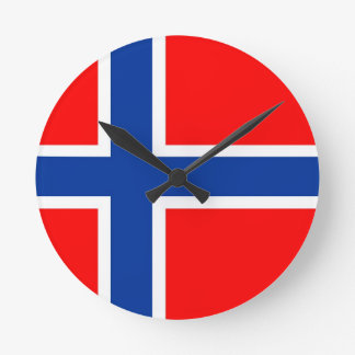 norway country flag clock