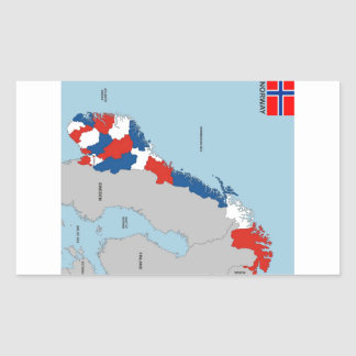 Norway Flag And Map Stickers Zazzle - Norway map and flag