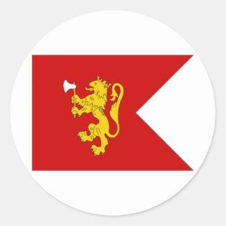 Norway Crown Prince Flag Round Sticker