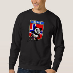 Men's Basic Sweatshirt with Norwegian Cycling Panda design