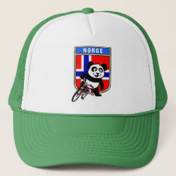 Trucker Hat with Norwegian Cycling Panda design