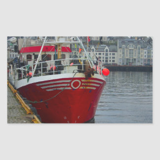 Norway, Deep water fishing vessel in port Rectangular Sticker
